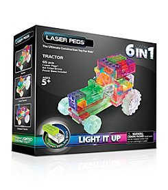 Laser Pegs® Lighted Construction Toy - 6-in-1 Tractor