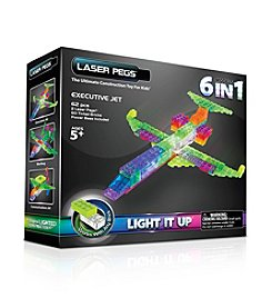 Laser Pegs® Lighted Construction Toy 6-in-1 Plane