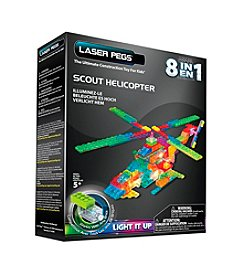 Laser Pegs® Lighted Construction Toy 8-in-1 Scout Helicopter