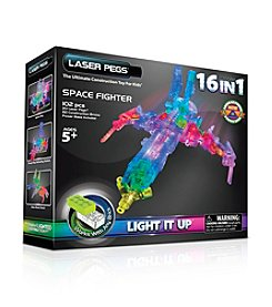 Laser Pegs® Lighted Construction Toy - 16-in-1 Space Fighter