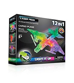 Laser Pegs® Lighted Construction Toy 12-in-1 Cargo Plane