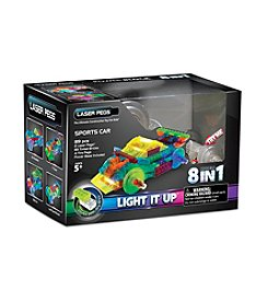 Laser Pegs® Lighted Construction Toy 8-in-1 Sports Car
