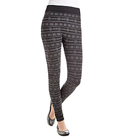 Pink Rose® Plus Size Geo Print Leggings