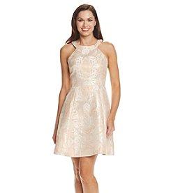 Adrianna Papell® Jacquard Halter Dress