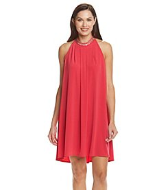 Calvin Klein Halter Chiffon Dress