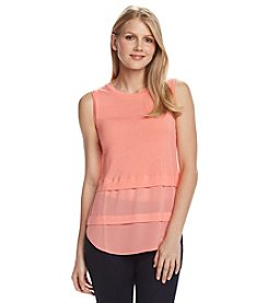 MICHAEL Michael Kors® Woven Mix Tank Top
