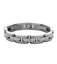 Men's Polished Stainless Steel Bracelet