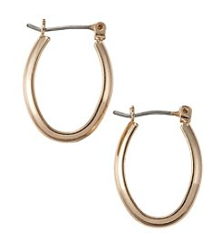 Napier® Goldtone Small Clickit Hoop Earrings