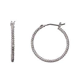 Napier® Silvertone Medium Hoop Earrings