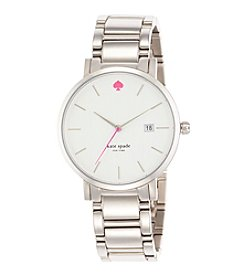 kate spade new york® Silvertone Gramercy Grand Stainless Steel Watch