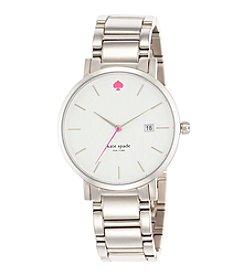 kate spade new york® Silvertone Gramercy Grand Stainless Steel Watch
