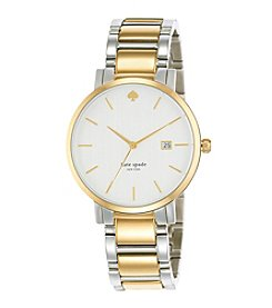 kate spade new york® Gramercy Grand Silvertone And Goldtone Stainless Steel Watch