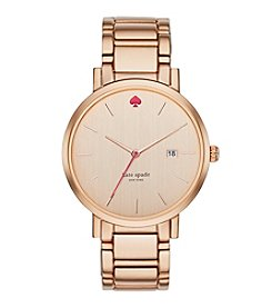 kate spade new york® Gramercy Grand Rose Goldtone Stainless Steel Watch