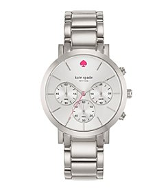 kate spade new york® Silvertone Gramercy Grand Stainless Steel Chronograph Watch