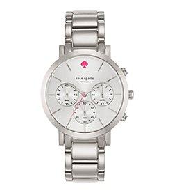 kate spade new york® Silvertone Gramercy Grand Stainless Steel Chronograph Watch