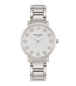 kate spade new york® Silvertone Gramercy Dot Stainless Steel Watch