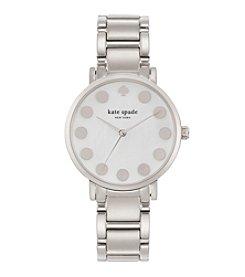 kate spade new york® Silvertone Gramercy Dot Stainless Steel Watch