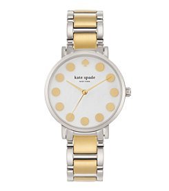 kate spade new york® Two Tone Gramercy Dot Stainless Steel Watch