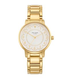 kate spade new york® Gramercy Scallop Goldtone Stainless Steel Watch