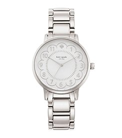 kate spade new york® Silvertone Gramercy Scallop Stainless Steel Watch