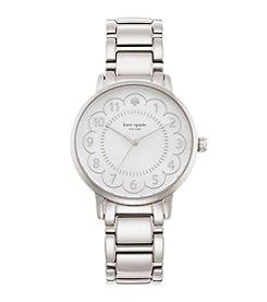 kate spade new york® Silvertone Gramercy Scallop Stainless Steel Watch