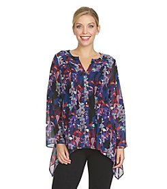 Chaus Floral Edge Top
