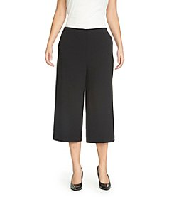 Chaus Textured Crepe Culottes