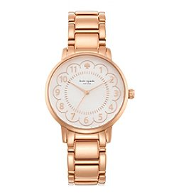 kate spade new york® Gramercy Scallop Rose Goldtone Stainless Steel Watch