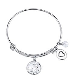 Gratitude an Grace Silvertone Cross Adjustable Bangle