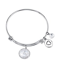 Gratitude and Grace Silvertone Love Adjustable Bangle