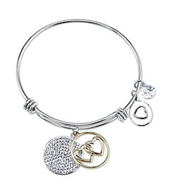 Gratitude and Grace Silvertone Sisters Adjustable Bangle