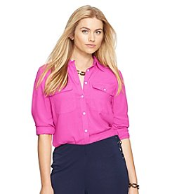Lauren Ralph Lauren® Plus Size Long-Sleeved Workshirt