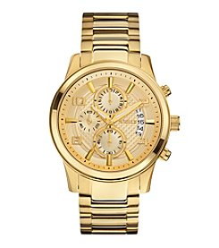 Guess Men's Goldtone Masculine Retro Dress Chronograph Watch