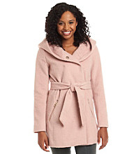Guess Asymmetric Belted Wrap Coat