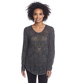 Jeanne Pierre® Floral Stitch Sweater