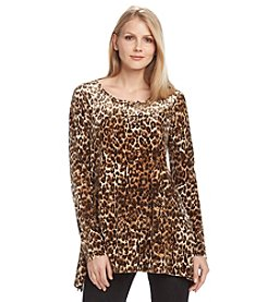 Cable & Gauge® Leopard Print Top