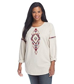 Ruff Hewn Plus Size Beaded Front Top