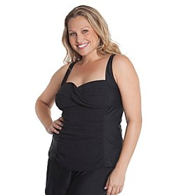 Beach Diva® by Malibu Plus Size Molded Tankini Top