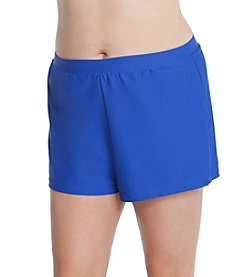 Beach Diva® by Malibu Plus Size Solid Swim Short