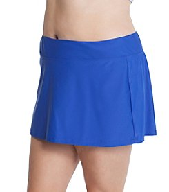 Beach Diva® by Malibu Plus Size Skort Swim Bottom