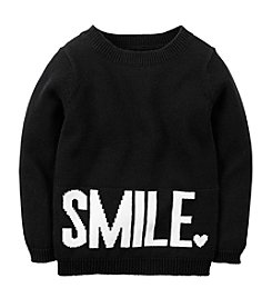 Carter's® Girls' 2T-6X Smile Intarsia Sweater