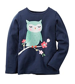 Carter's® Girls' 2T-6X Long Sleeve Graphic Owl Tee