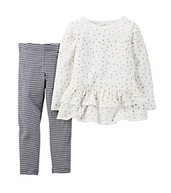 Carter's® Girls' 2T-6X Star Printed Top and Leggings Set