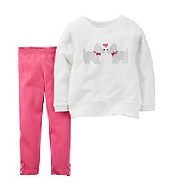 Carter's® Girls' 2T-6X Scotty Dog Graphic Top and Legging Set