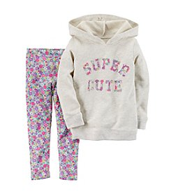 Carter's® Girls' 2T-6X Super Cute Hoodie And Leggings Set
