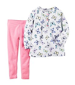Carter's® Girls' 2T-6X Butterfly Print Tee And Leggings Set