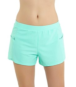 Malibu Side Zip Short Swim Bottom