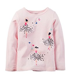 Carter's® Girls' 2T-6X Long Sleeve Dancing Girls Tee
