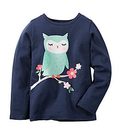Carter's® Girls' 2T-6X Graphic Owl Tee