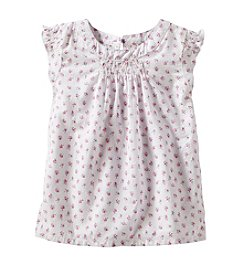 OshKosh B'Gosh® Girls' 2T-6X Floral Flutter Sleeve Top
